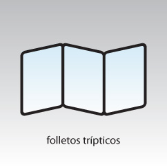 Folletos trípticos